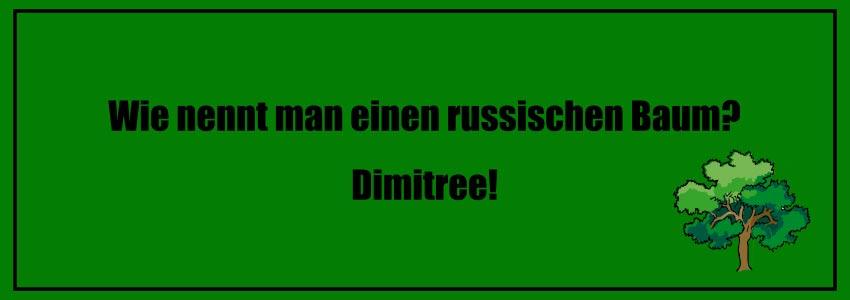 Wie nennt man einen russischen Baum? Dimitree! Flachwitz 2018 neu