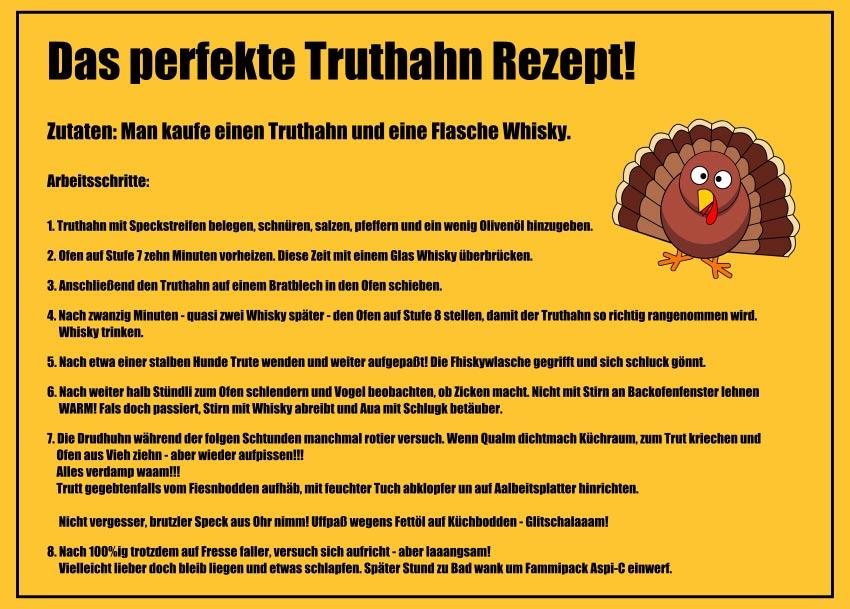 Das perfekte Truthahn Rezept! Witze zum Totlachen