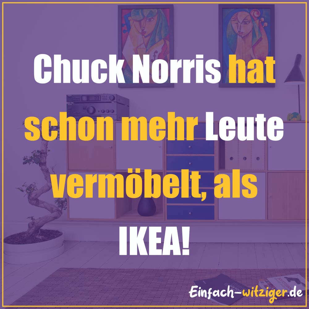 Chuck Norris Chuck Norris Witze Jack Norris chuck noris witze: Chuck Norris hat mehr Leute vermöbelt, als IKEA!