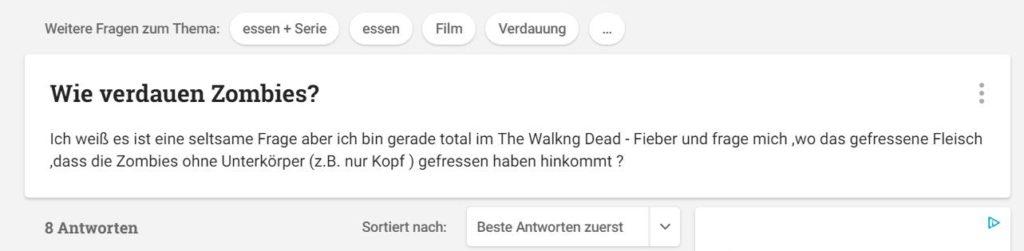 Wie verdauen Zombies?